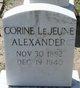 Corine <I>LeJeune</I> Alexander