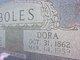 Profile photo:  Dora Elizabeth <I>Garrett</I> Boles