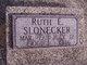 Profile photo:  Ruth <I>Embry</I> Slonecker