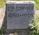 Profile photo:  E P Bowman
