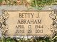 Profile photo:  Betty Jean Abraham