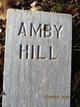Profile photo:  Amby Hill