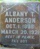 Profile photo:  Albany Thames Anderson