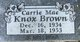 Carrie May <I>Knox</I> Brown