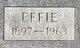 Profile photo:  Effie <I>Wix</I> Gammons