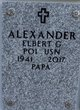"Profile photo:  Elbert G. ""Al"" Alexander"