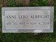 Profile photo:  Anne <I>Lebo</I> Albright