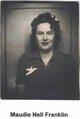 Maudie Nell <I>Franklin</I> Pritchard