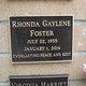 Rhonda Gaylene Foster