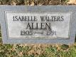 Isabelle W <I>Walters</I> Allen