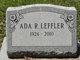 Profile photo:  Ada R. Leffler