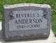 Beverly Louise Anderson