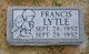 Profile photo:  Francis Lytle