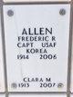 Profile photo:  Clara Marie Allen