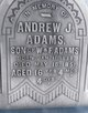 Profile photo:  Andrew J. Adams