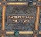 Profile photo:  David Rice Lynn