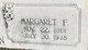 Margaret Frances <I>Burkett</I> Brown
