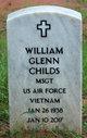 MSGT William Glenn Childs