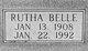 Rutha Belle <I>Hawkins</I> Hardy