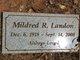 Mildred Ruth <I>Hess</I> Landon