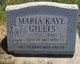 Profile photo:  Maria Kaye Gillis