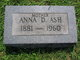 Profile photo:  Anna D. <I>Atkinson</I> Ash
