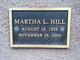 Profile photo:  Martha L. Hill