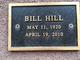 Profile photo:  Bill Hill
