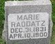 Profile photo:  Marie Friedrike Auguste <I>Runge</I> Raddatz