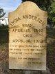 Mrs Lydia Ann <I>Douglass</I> Anderson