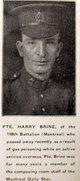 Profile photo: Pvt Harry Thomas Brine