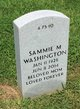 Profile photo:  Sammie M Washington