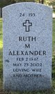 Profile photo:  Ruth Marie <I>Michelson</I> Alexander