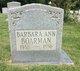 Profile photo:  Barbara Ann Boarman