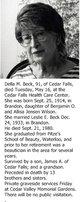 Profile photo:  Della M. <I>Wilson</I> Beck
