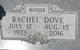 Rachel <I>Harding</I> Dove