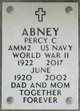 Profile photo:  Percy Clemet Abney