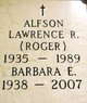 "Profile photo:  Lawrence R ""Roger"" Alfson"