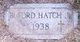 Profile photo:  Buford Hatch, Jr