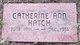 Profile photo:  Catherine Ann Hatch