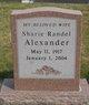 Sharie <I>Randel</I> Alexander