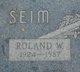"Profile photo:  Roland Wallace ""Rollie"" Seim"