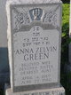 Profile photo:  Anna Zelvin Green
