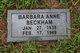 Profile photo:  Barbara Anne Beckham