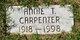 Profile photo:  Annie Mae <I>Tate</I> Carpenter