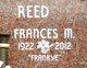 Profile photo:  Frances Marie Reed