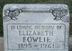 Profile photo:  Elizabeth Fowlie