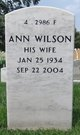 Ann <I>Wilson</I> Brown