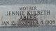 """Martha Virginia """"Jennie"""" <I>Kulbeth</I> Ables"""