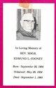 Rev Fr Edmund L Cooney